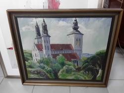 Oil painting in frame 70x61cm