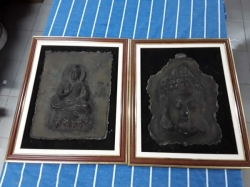 2x pictures of Buddha