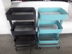 2x Metal Cart Trolley