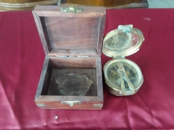 Brass Boat Compass in box