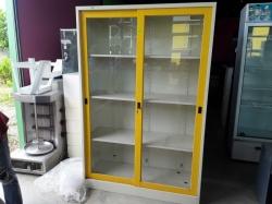 Steel filling cabinet 2 keys 46x122x183cm