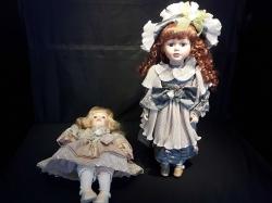 2pcs ceramic dolls