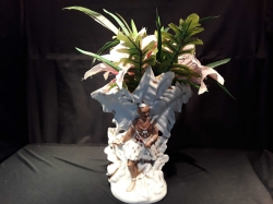 Hawaiian vase with flowers