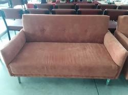 Orange 2 Seat Sofa