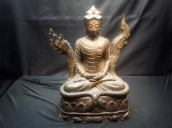 A Bronze Buddha With Dragon 19th Century 28x40cm