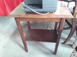 C,1920 Oak and craft 2x tires occasional table