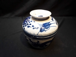Chinese blue&white pot with lid