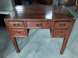 Small lady rosewood desk with drawers 57x98x86cm
