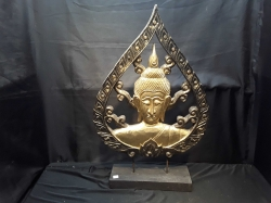 Buddha carved on stand