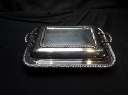 Silver plated dish and cover