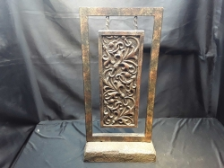 Wooden carved on stand
