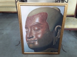 Oil painting Buddha in frame 70x90cm