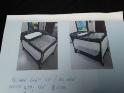Portable Baby Cot as new