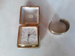 Alam clock with with brass bracelet