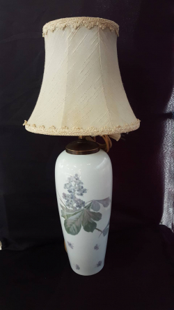 A lovely white table lamp