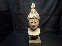 About 1850 KHMER Sone Buddha  Head with very fine traits
