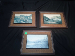 3 Vintage monochrome pictures by Kevin platt  signed to front and information to rear