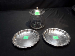 Glass Marmalade Jar with lid plus two coasters