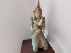 Wooden Thai angle statue